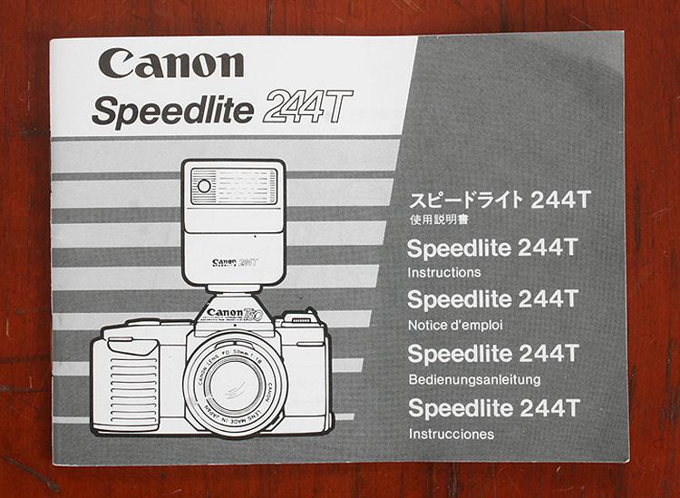 CANON SPEEDLIGHT 244T NOTICE