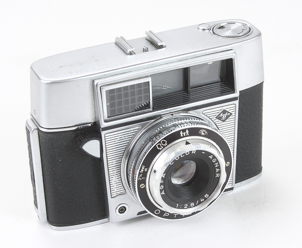 Agfa optima 1a camera-agfa color agnar 1:2. 8 45mm lens-leather.