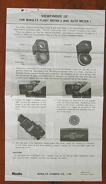 minolta xg 2 original owners manual